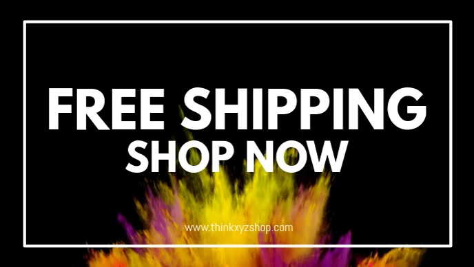 Free Shipping Delivery Online Shopping Store Facebook 封面视频 (16:9) template