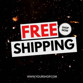 Free Shipping Hot Explosion Fire Price off Square (1:1) template