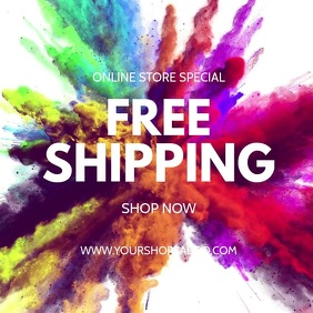 Free Shipping Special Promotion Online Shop Square (1:1) template