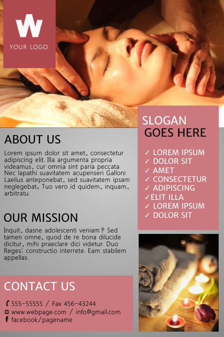 Free Spa Flyer Template Postermywall