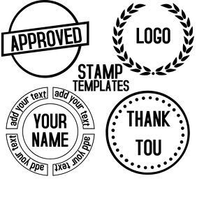 FREE STAMP TEMPLATES ROUND