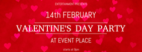 Free Valentine's Day Party Facebook Cover Template
