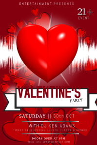 Free Valentine´s Day Party Flyer Template