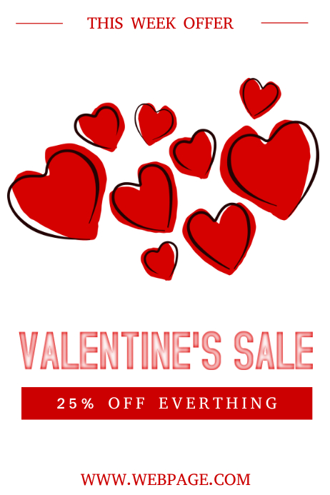 free valentine s day sale flyer template postermywall