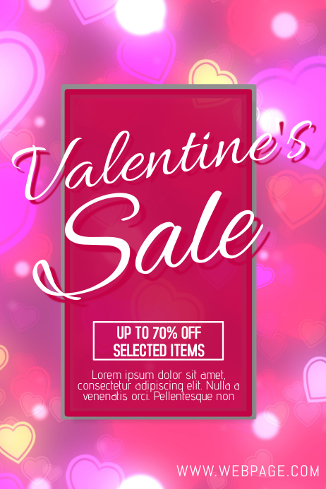 Free Valentines Day Sale Retail Promotion Flyer Template