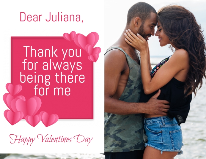 Free Valentines Day Greeting Cards Volante (Carta US) template