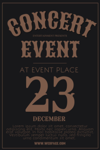 Free Vintage Old Retro Indie Flyer Template Poster