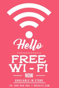 Free Wi-Fi Poster