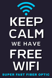 Free Wifi Poster Template