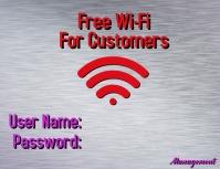 Free WiFi template
