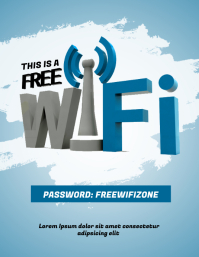 Free Wifi Zone Flyer Template