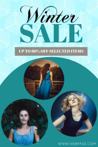 Free Winter Sale Flyer Template with Photos
