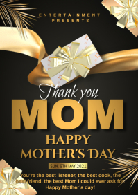 MOTHERS DAY CARD A4 template