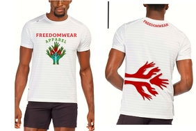 Freedomwear Apparel Tshirt Design Poster template
