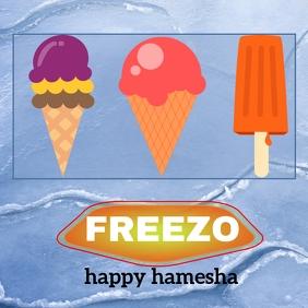 freezo ice cream template Instagram Plasing