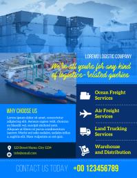 freight forwarding service Folheto (US Letter) template