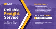 Freight Fowarding Logistic Delivery Service Facebook Shared Image template