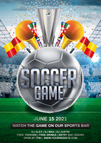 soccer game A4 template