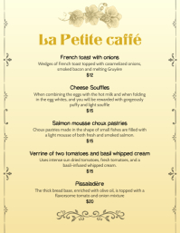 French Bistro Menu Template