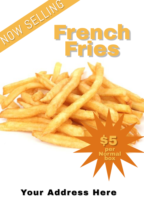 French Fries ad Flyer Template