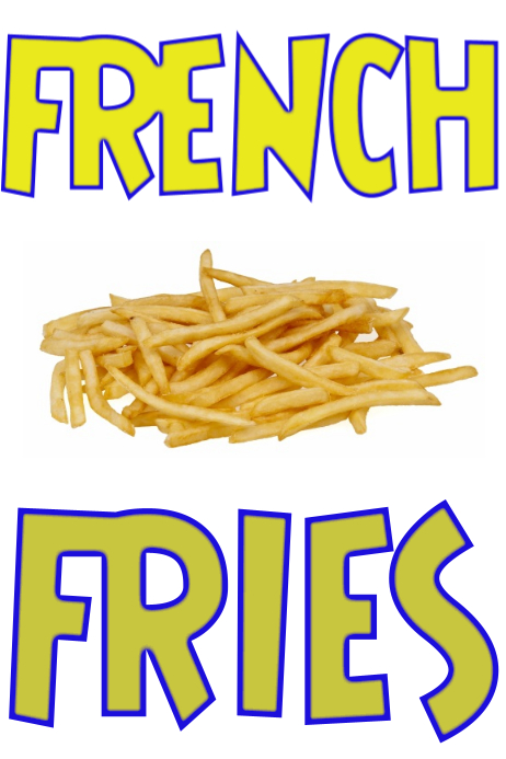 French Fries Sign Template Postermywall