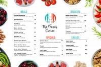 French Mediterranean Cuisine Menu Template Poster