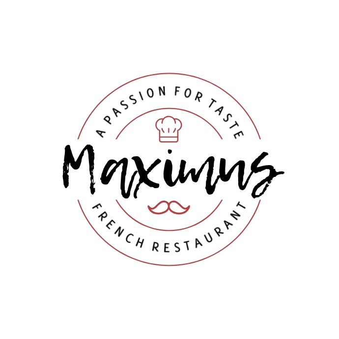 French Restaurant Logo Logótipo template