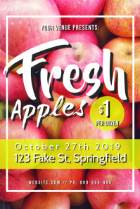 Fresh Apples Poster