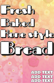 Fresh baked bread bakery home style tradition template