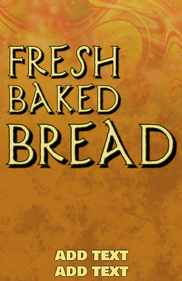 fresh baked bread bakery template