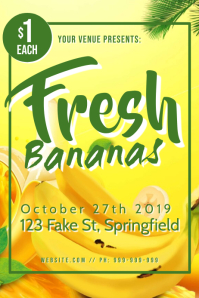 Fresh Bananas Poster