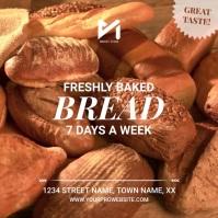 Fresh Bread Bakery Publicación de Instagram template