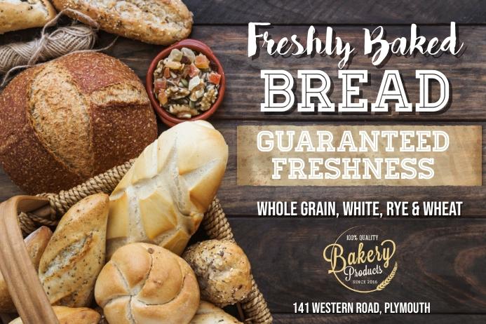 Fresh Bread Bakery Poster Template
