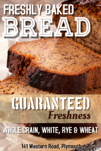 Fresh Bread Poster Template