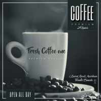 fresh coffe Albumcover template