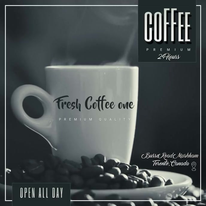 fresh coffe Sampul Album template