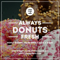 Fresh Donuts 方形(1:1) template