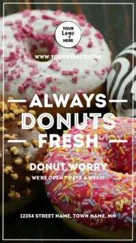 Fresh Donuts Instagram Story template