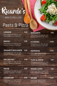 Fresh Food Menu Poster Template