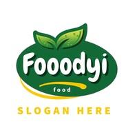 FRESH FOOD VEGETABLE market logo editable template