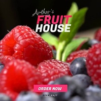 Fresh Fruit Shop ad Portada de Álbum template