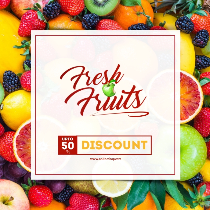 Fresh Fruits Ad Album Cover template