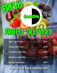 Fresh fruits delivery design