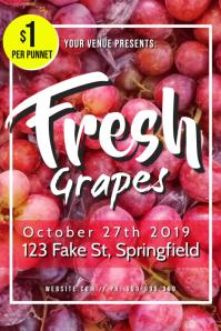 Fresh Grapes Poster