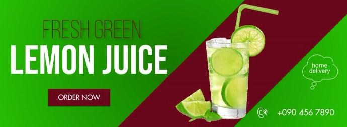 FRESH GREEN LEMON JUICE FLYER Facebook Cover Photo template