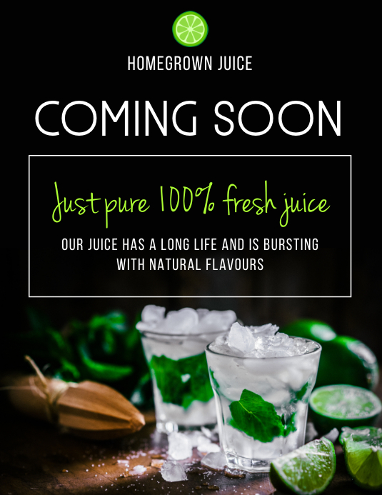 Fresh Juice Coming Soon Flyer