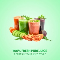 Fresh juices - Product display ad Instagram Post template