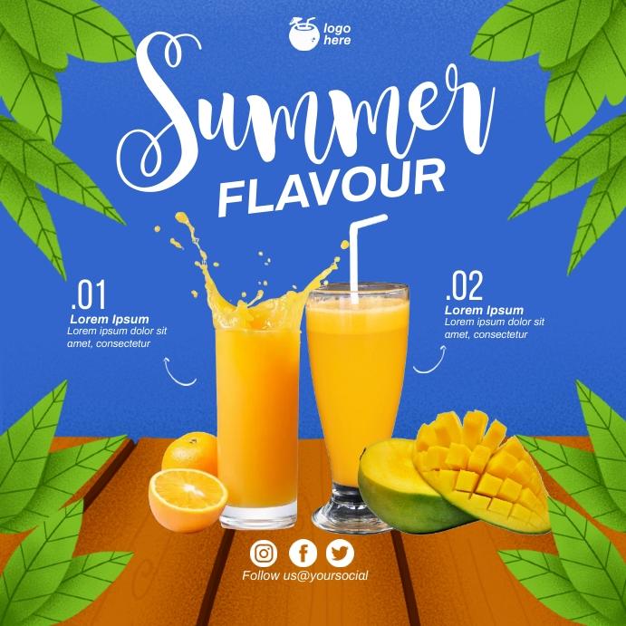 Fresh Mango Juice Square (1:1) template