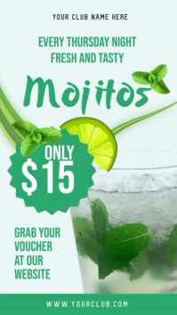 Fresh Mojito Bar Digital Display Video Template