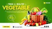 Fresh organic vegetable flyer Film w tle na Facebooka (16:9) template
